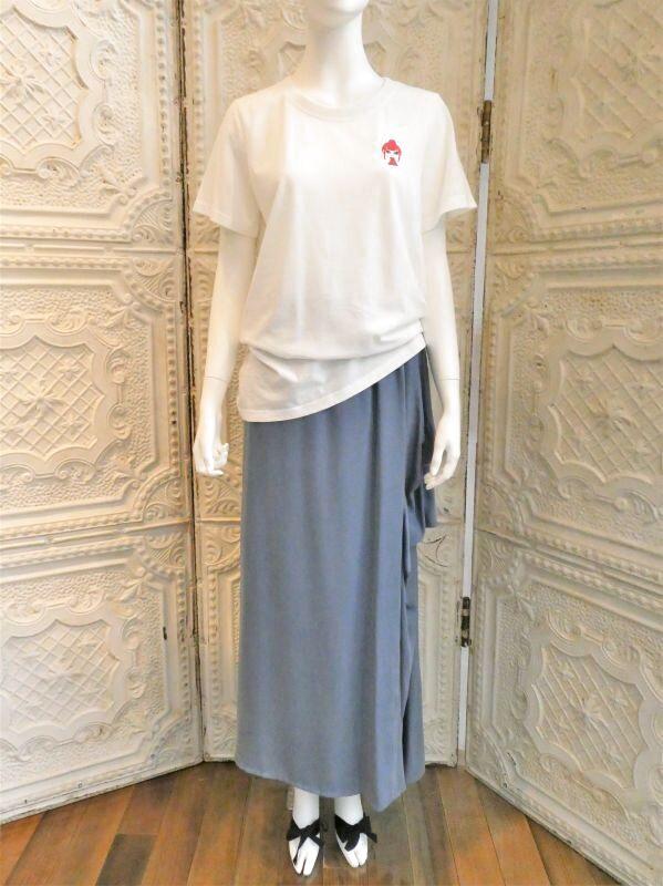 画像1: デニムライクサテン スカート (1)